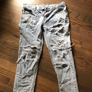 """Jeans """"awesome baggies"""" by one teaspoon"""
